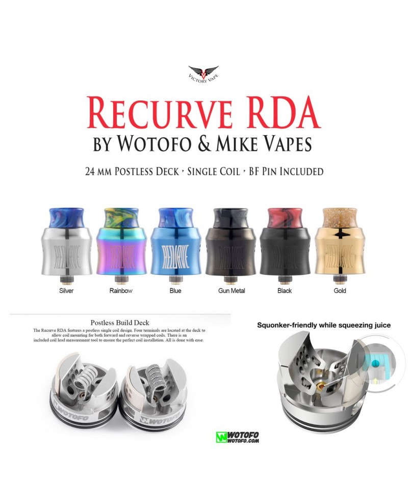 Atomiseur Recurve BF RDA 24mm WOTOFO - Promovap